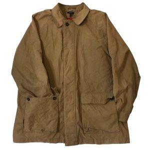 J.Crew Mens Military Tan Full Zip Jacket Size XL